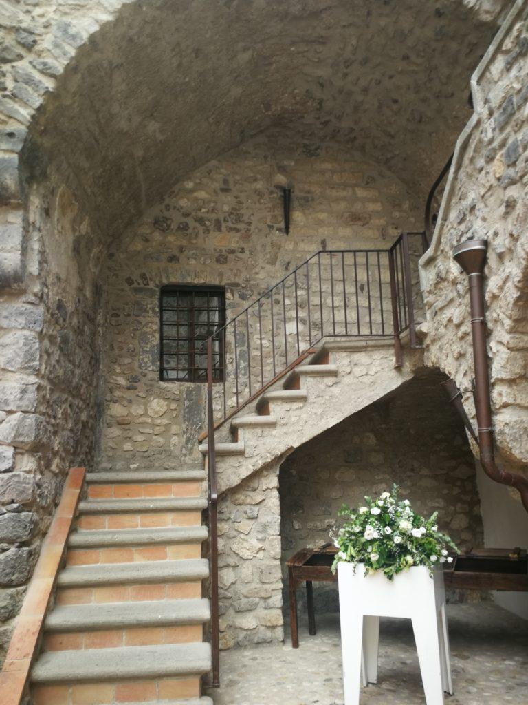 Le scale del Castello