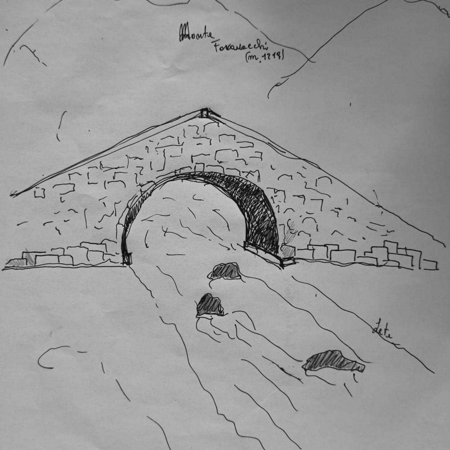 Schizzo del ponte sul Lete